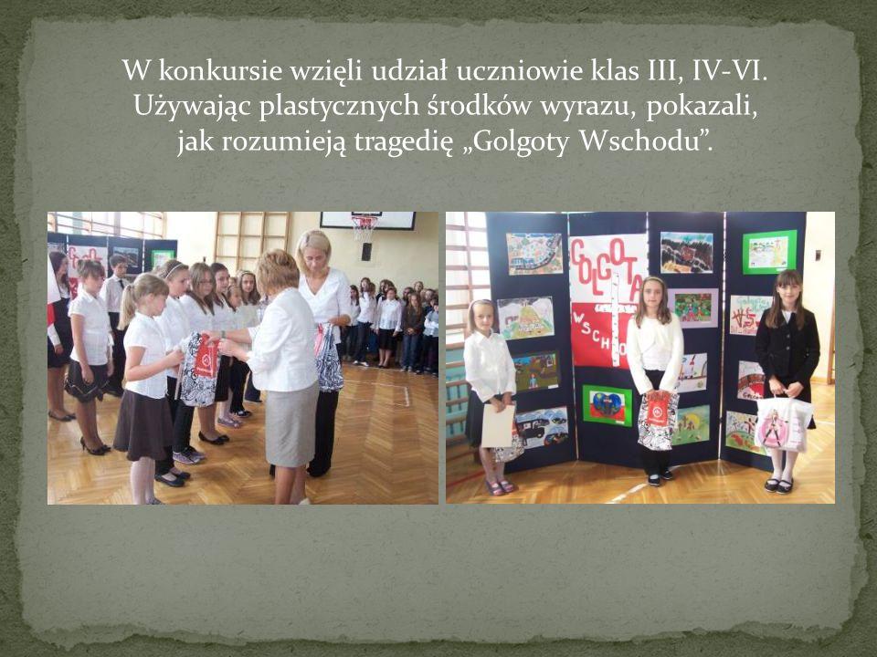 W konkursie wzięli udział uczniowie klas III, IV-VI
