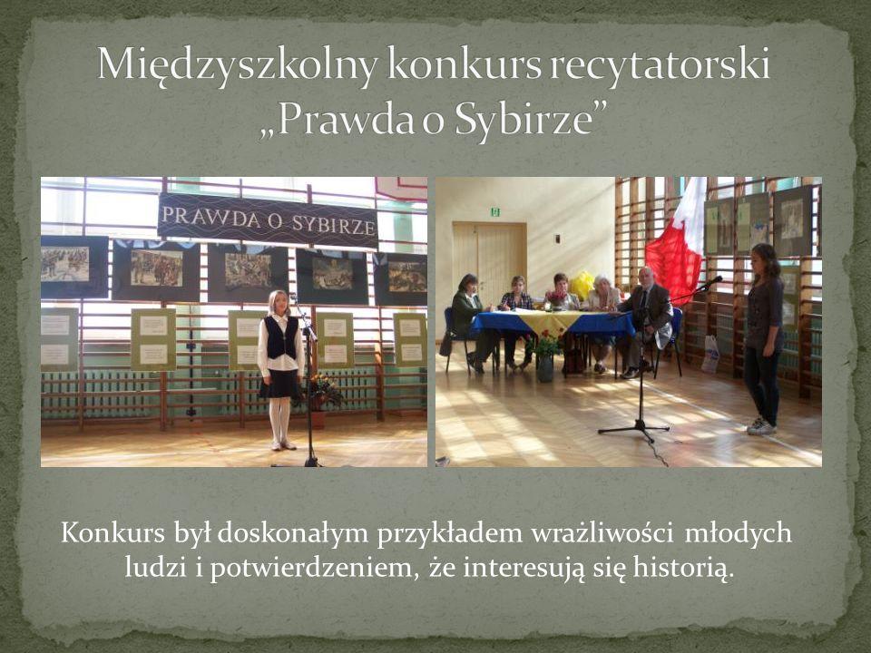 """Międzyszkolny konkurs recytatorski """"Prawda o Sybirze"""