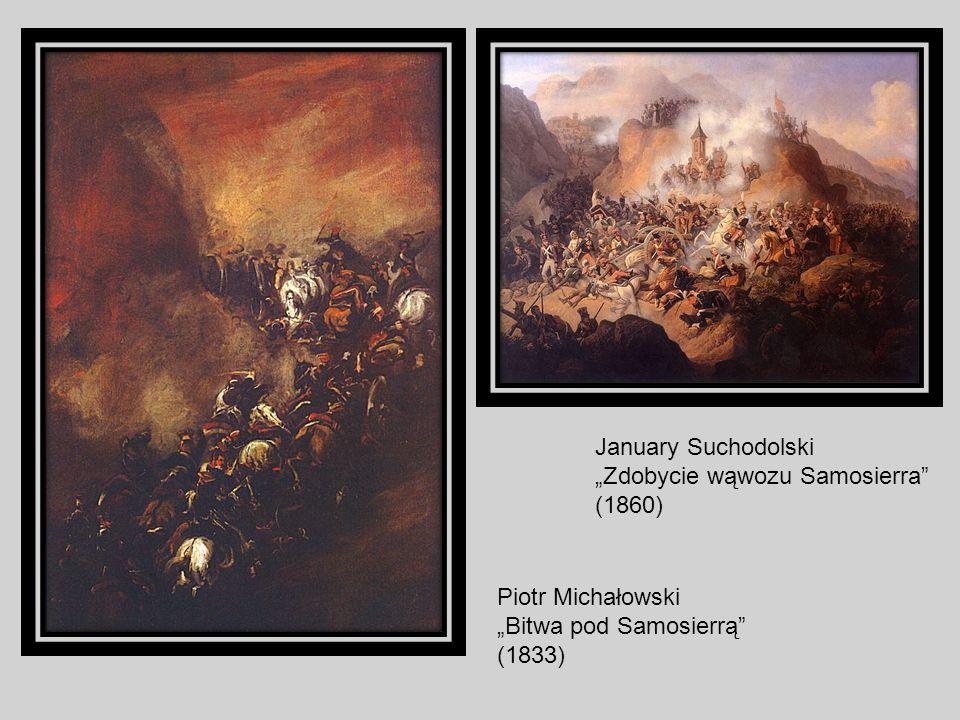 """January Suchodolski """"Zdobycie wąwozu Samosierra (1860) Piotr Michałowski."""