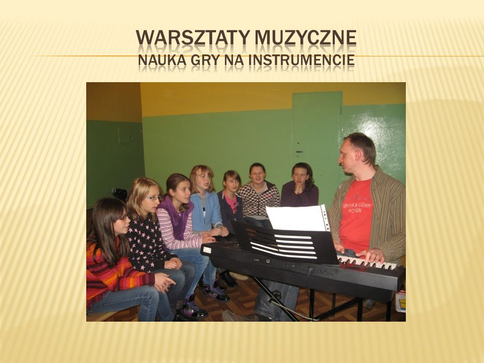 Warsztaty muzyczne nauka gry na instrumencie