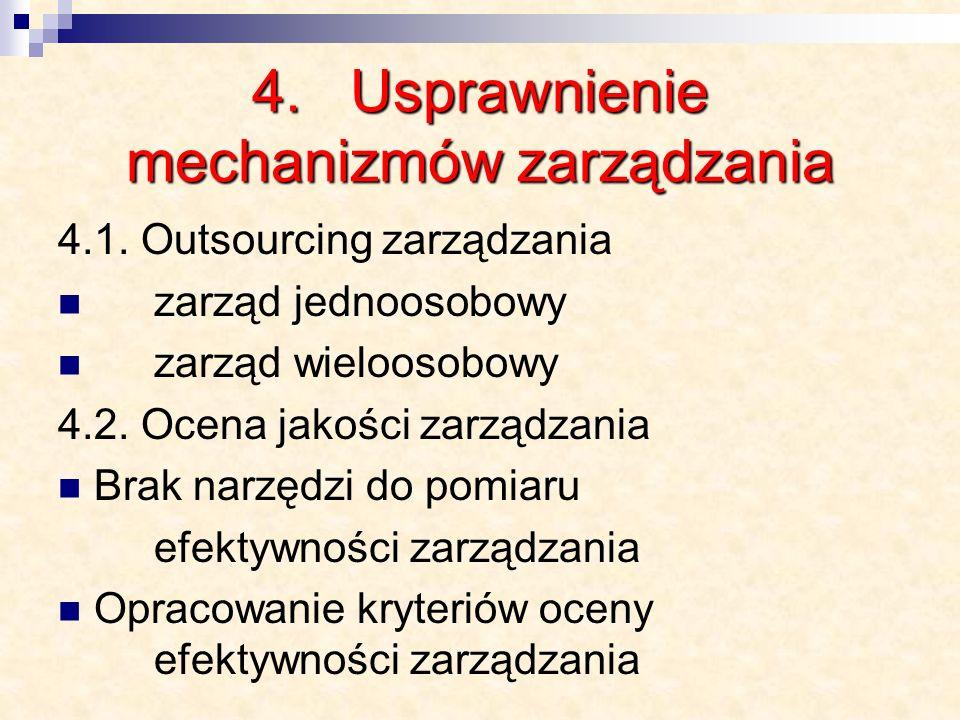 4. Usprawnienie mechanizmów zarządzania