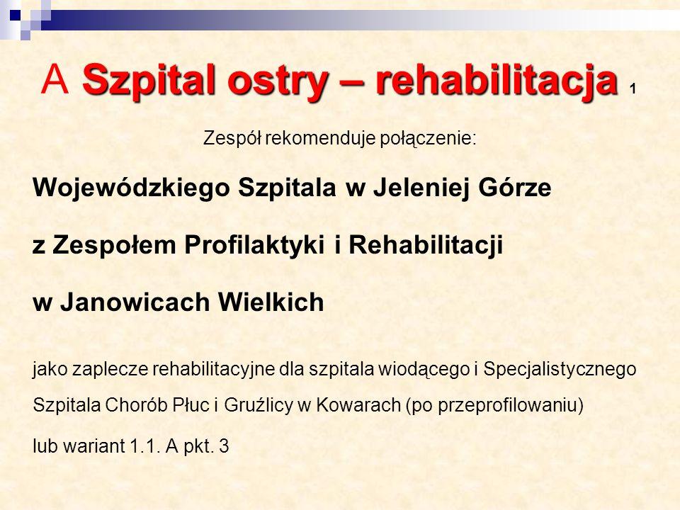 A Szpital ostry – rehabilitacja 1
