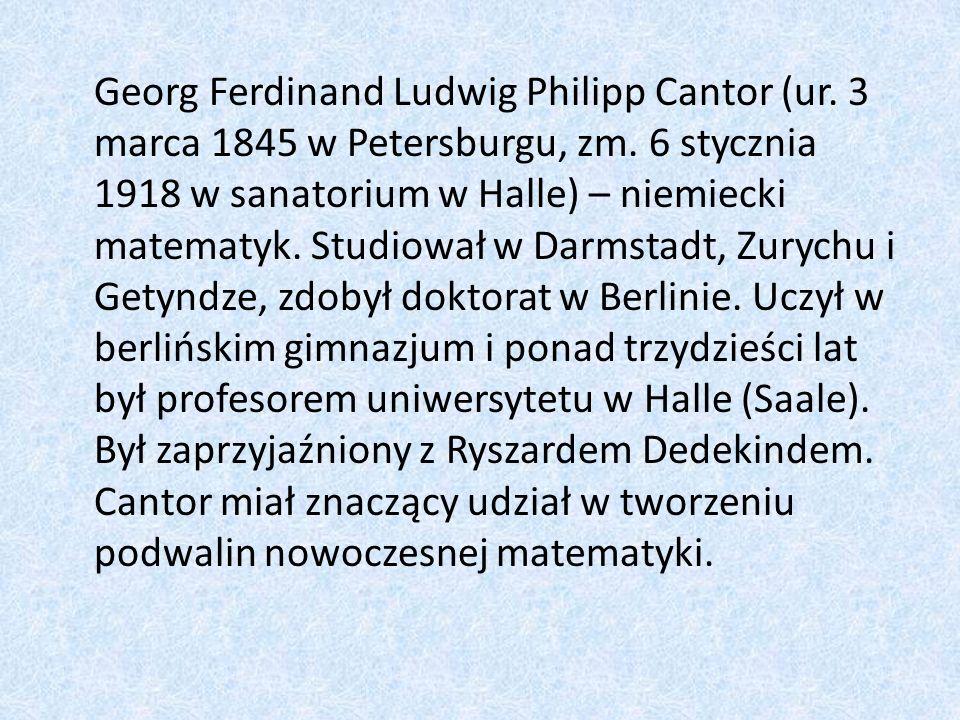 Georg Ferdinand Ludwig Philipp Cantor (ur