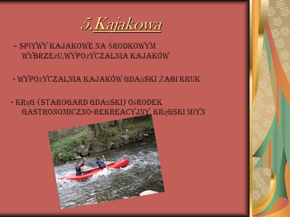 5.Kajakowa - Spływy Kajakowe na Środkowym Wybrzeżu,wypożyczalnia kajaków. - Wypożyczalnia kajaków Gdański Żabi Kruk.