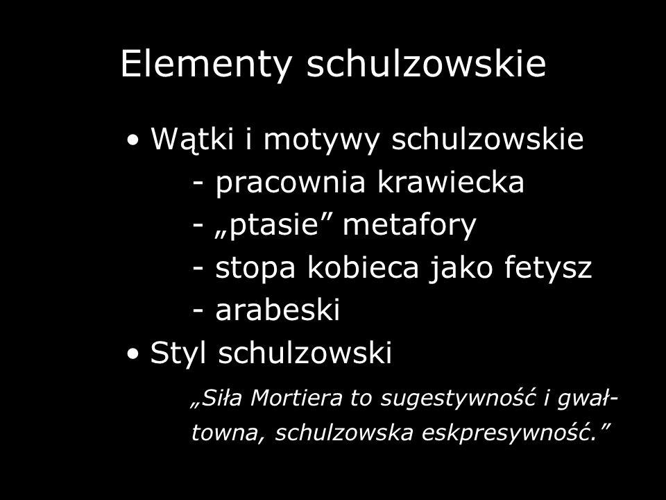 Elementy schulzowskie
