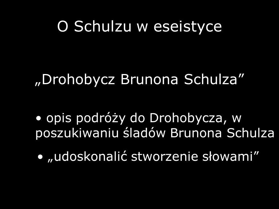 """Drohobycz Brunona Schulza"