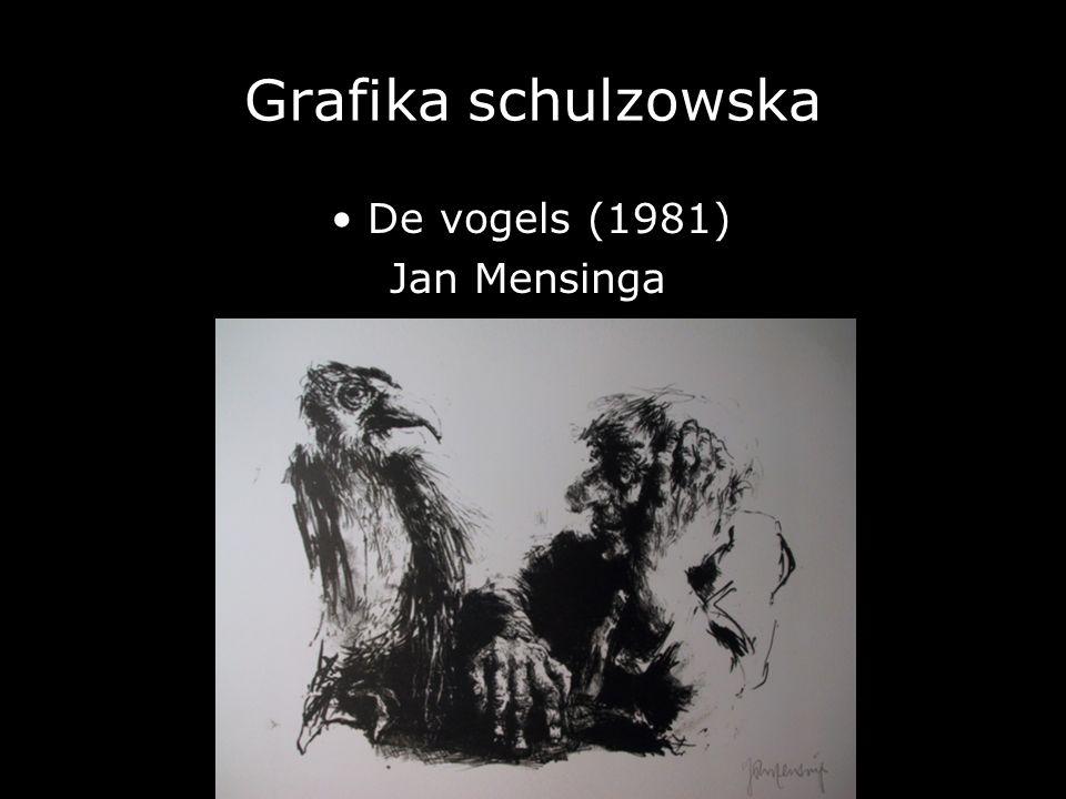 Grafika schulzowska • De vogels (1981) Jan Mensinga