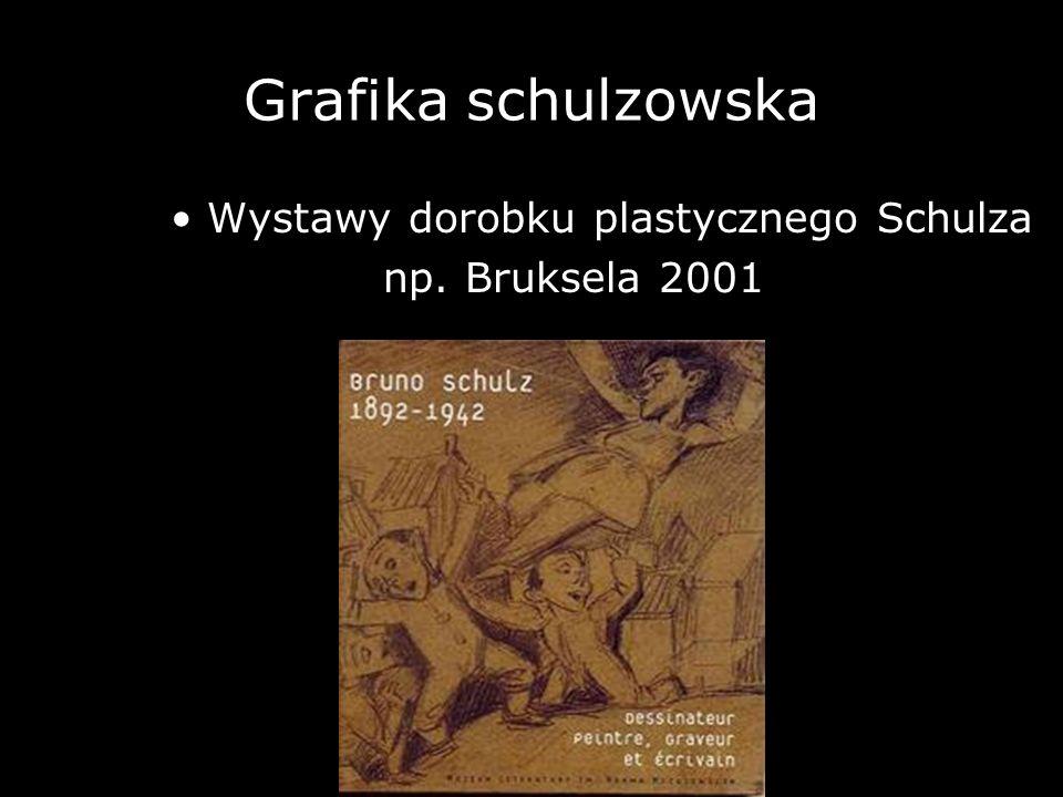 Grafika schulzowska np. Bruksela 2001