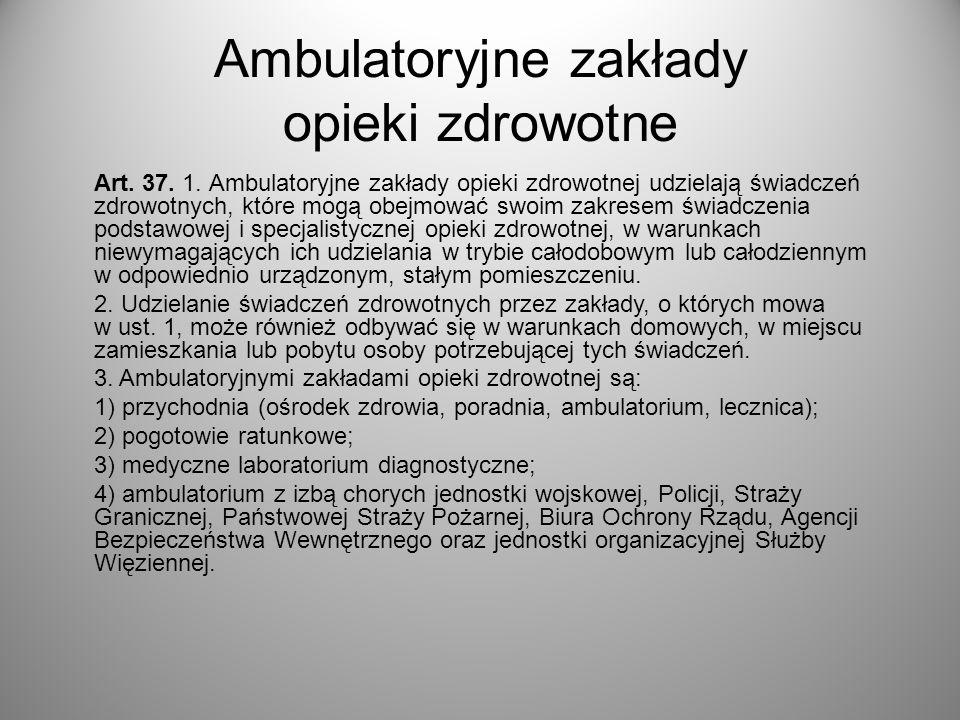 Ambulatoryjne zakłady opieki zdrowotne