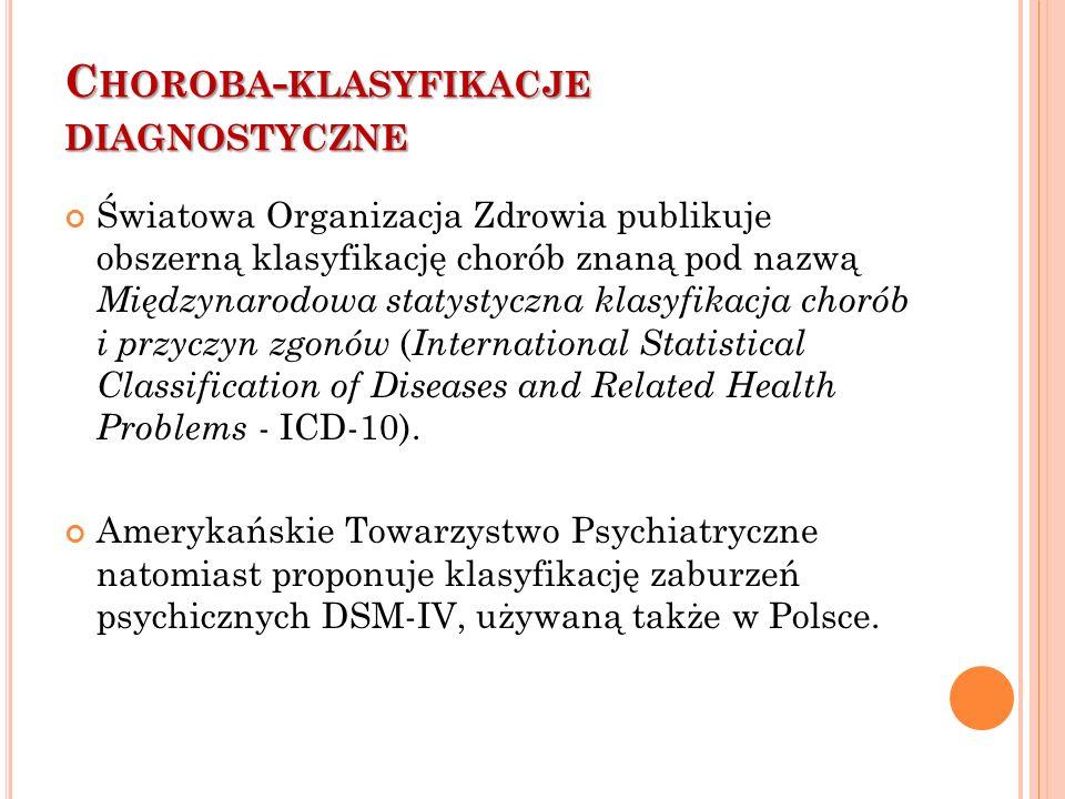 Choroba-klasyfikacje diagnostyczne