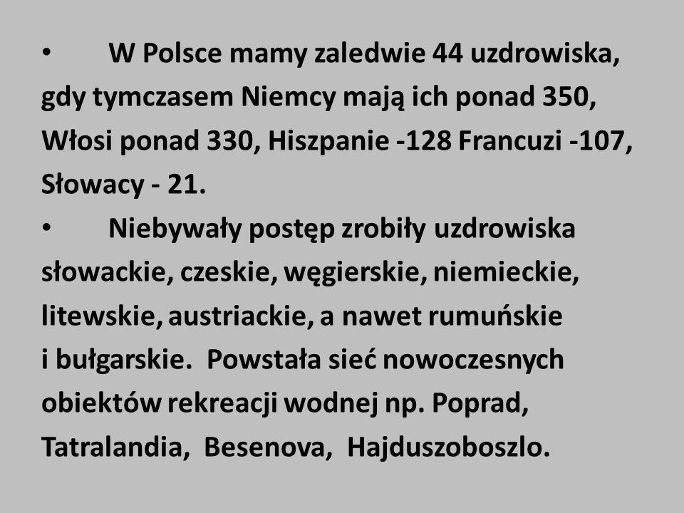 W Polsce mamy zaledwie 44 uzdrowiska,