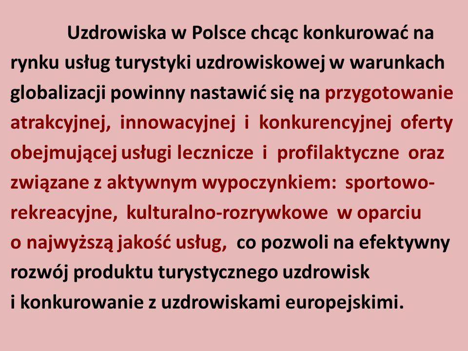 Uzdrowiska w Polsce chcąc konkurować na