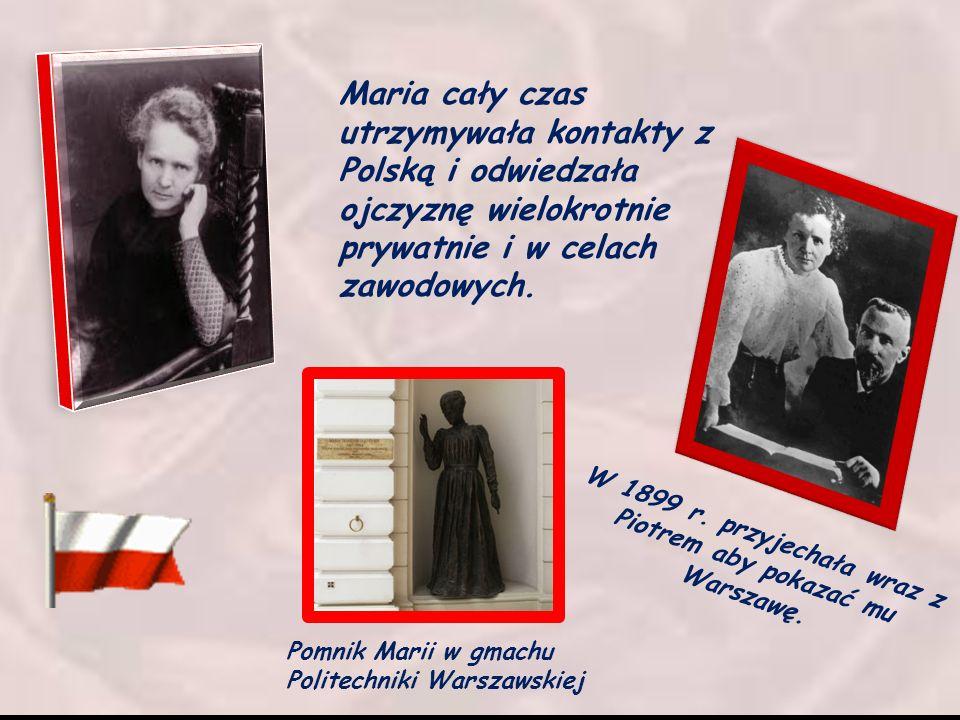 W 1899 r. przyjechała wraz z Piotrem aby pokazać mu Warszawę.