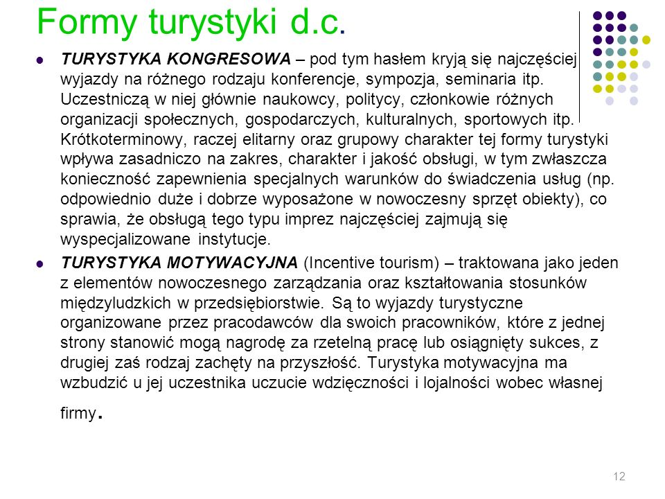Formy turystyki d.c.
