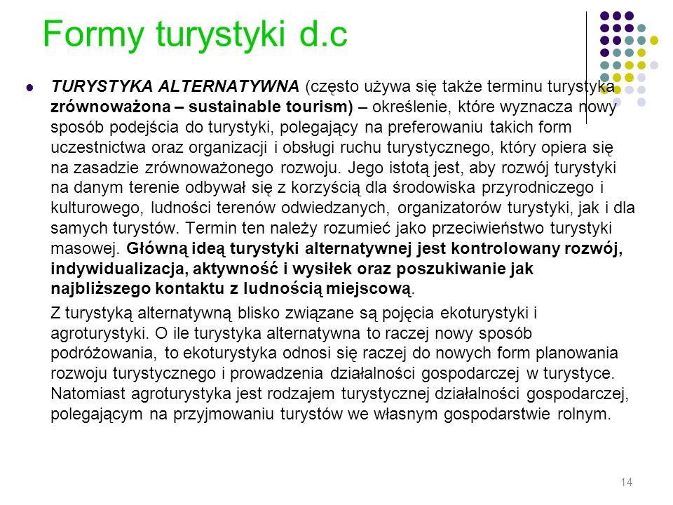 Formy turystyki d.c