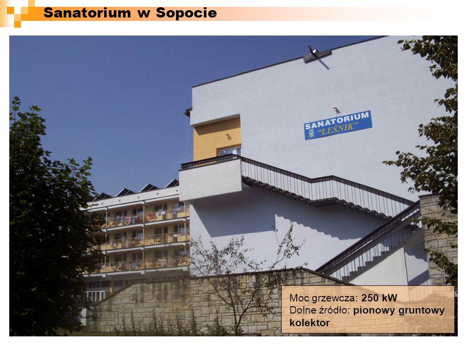 Sanatorium w Sopocie Moc grzewcza: 250 kW