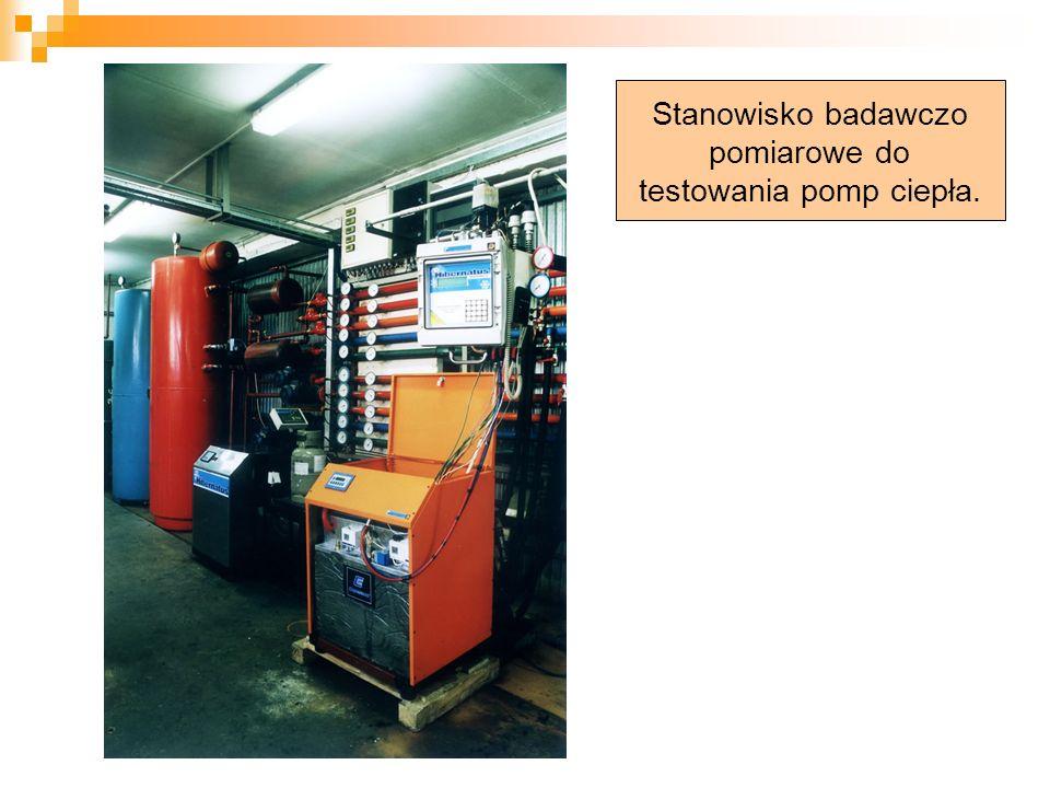 Stanowisko badawczo pomiarowe do testowania pomp ciepła.
