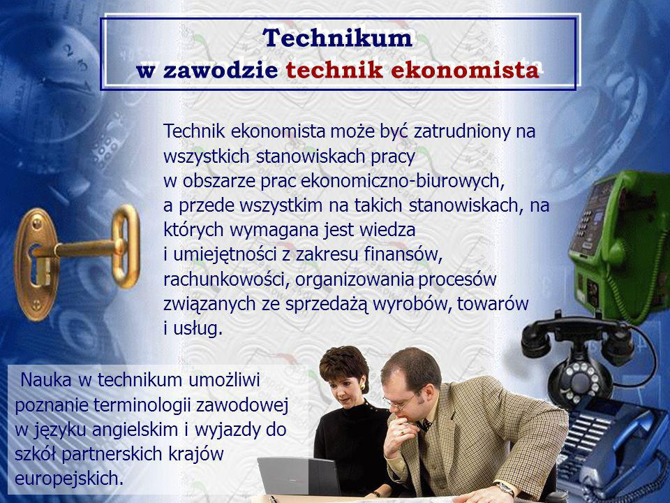 Technikum w zawodzie technik ekonomista
