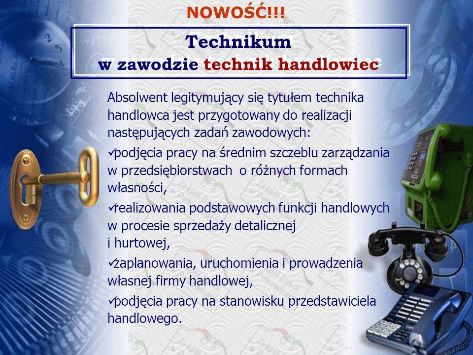 Technikum w zawodzie technik handlowiec