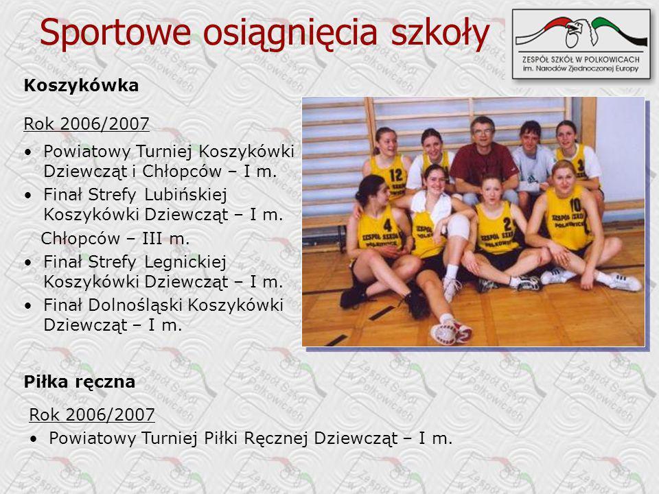 Sportowe osiągnięcia szkoły