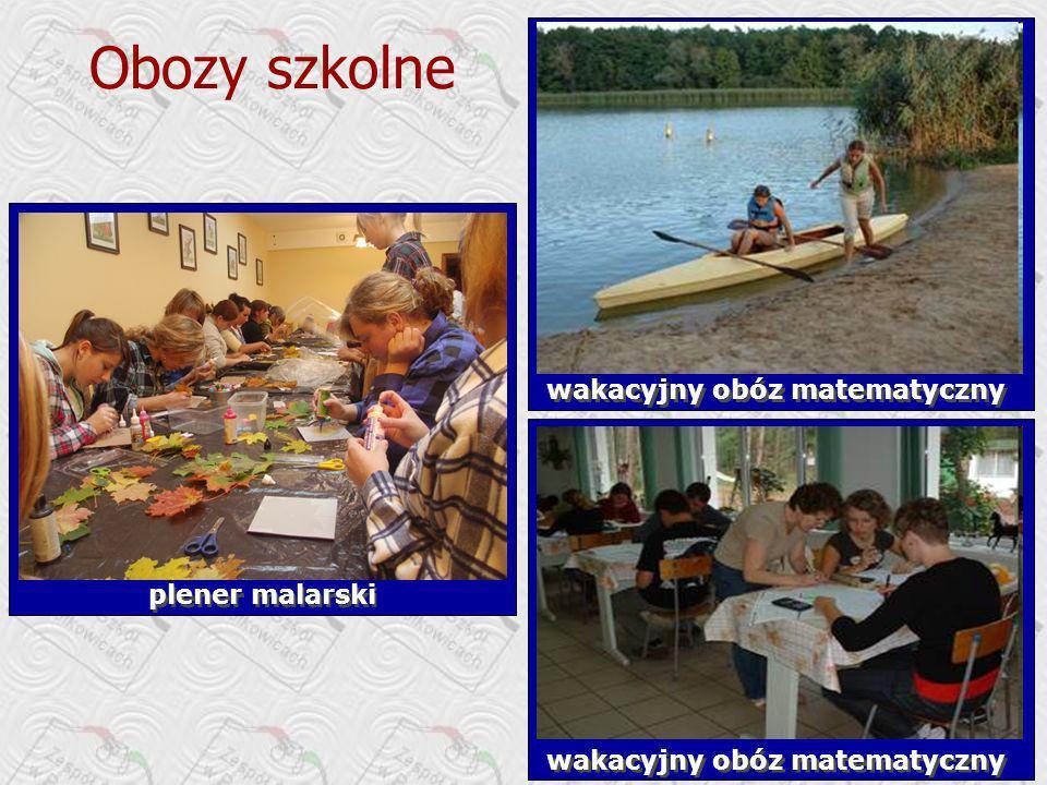 Obozy szkolne wakacyjny obóz matematyczny plener malarski