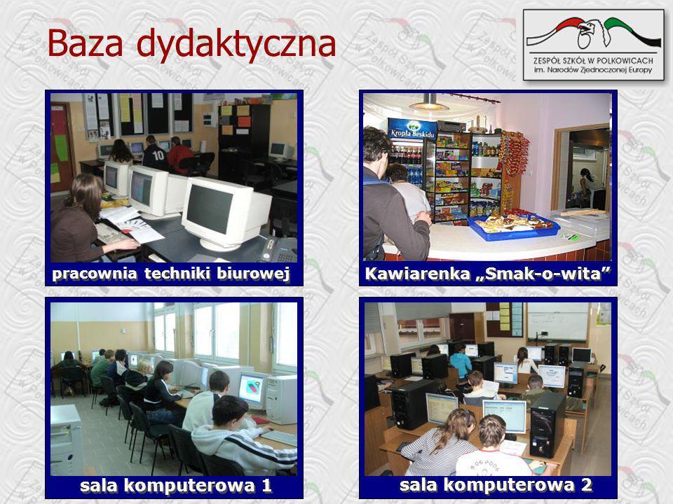 Baza dydaktyczna sala komputerowa 1 sala komputerowa 2