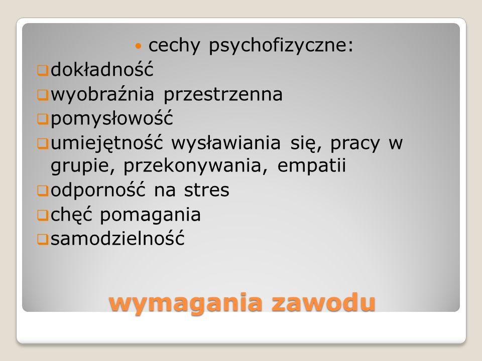 cechy psychofizyczne:
