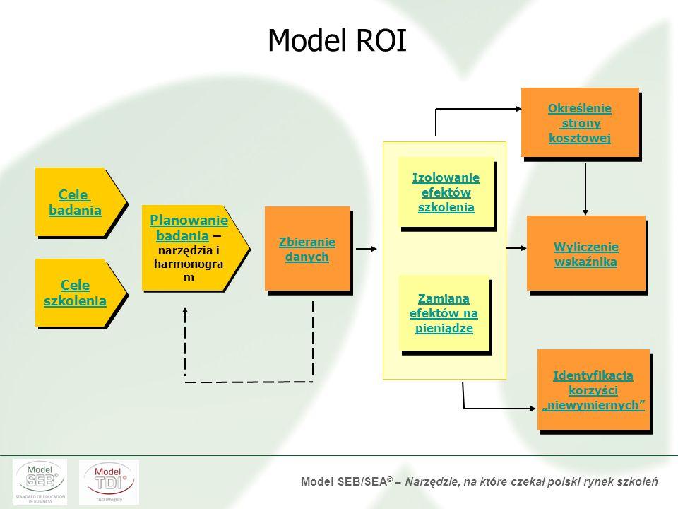 Model ROI Cele badania Planowanie badania – narzędzia i harmonogram