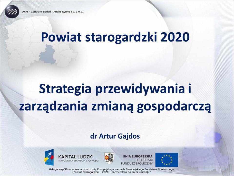 Powiat starogardzki 2020 Strategia przewidywania i zarządzania zmianą gospodarczą dr Artur Gajdos