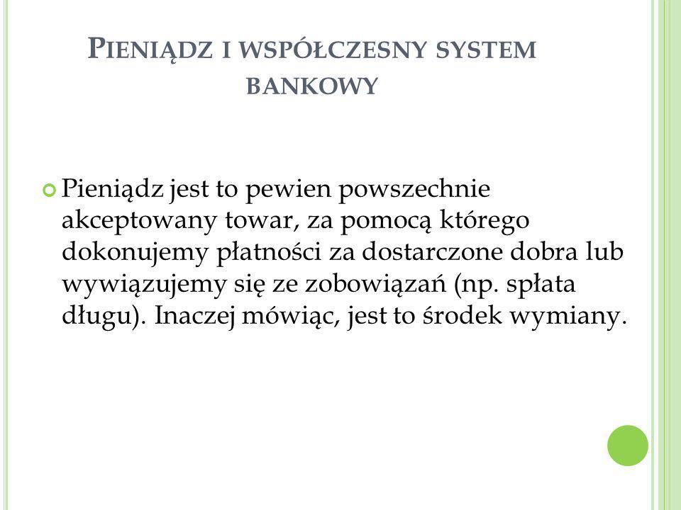 Pieniądz i współczesny system bankowy
