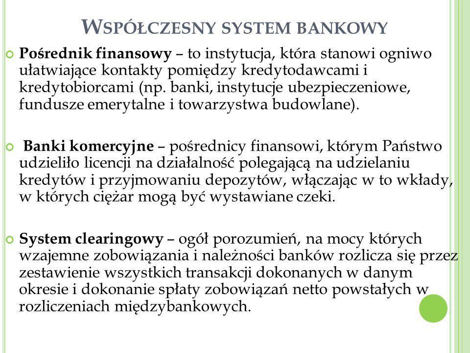 Współczesny system bankowy