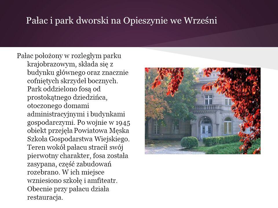 Pałac i park dworski na Opieszynie we Wrześni