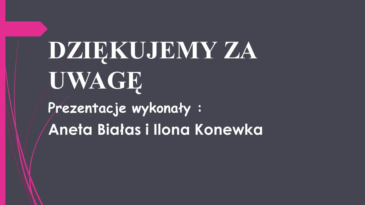 DZIĘKUJEMY ZA UWAGĘ Aneta Białas i Ilona Konewka