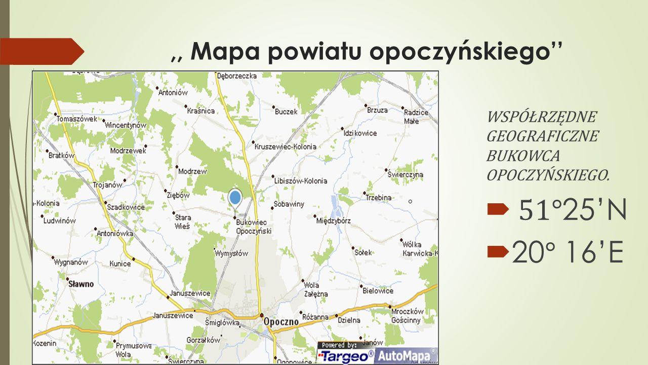 ,, Mapa powiatu opoczyńskiego''