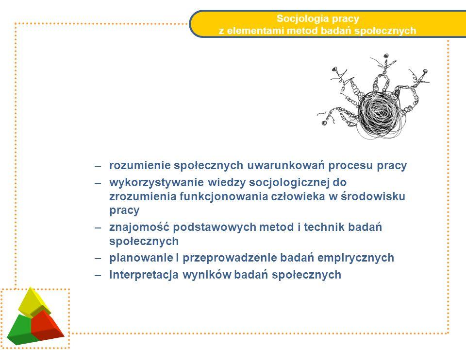 Socjologia pracy z elementami metod badań społecznych