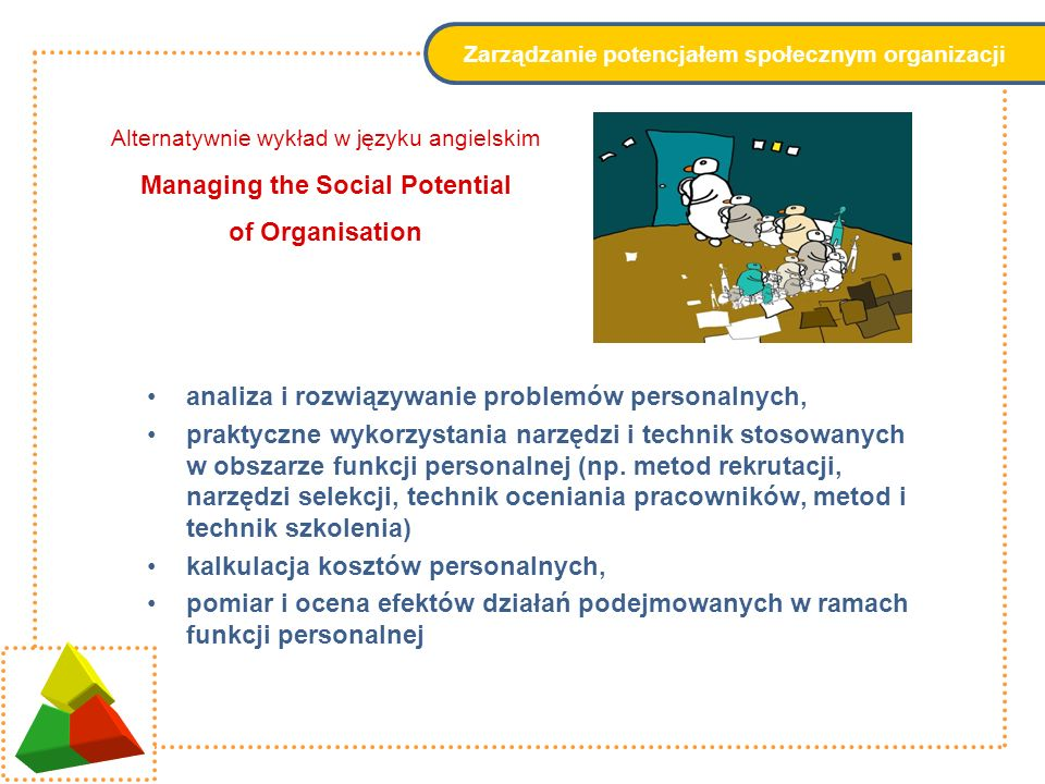 Zarządzanie potencjałem społecznym organizacji