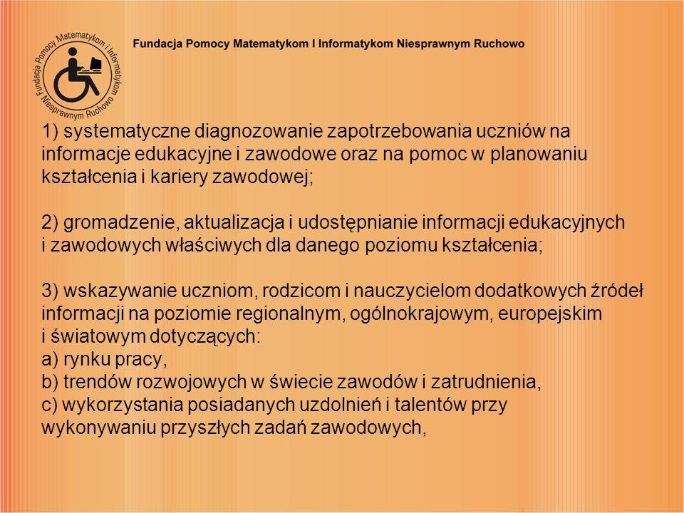 1) systematyczne diagnozowanie zapotrzebowania uczniów na