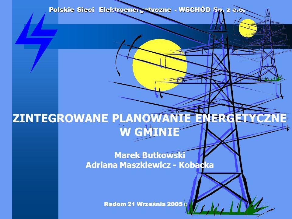 ZINTEGROWANE PLANOWANIE ENERGETYCZNE Adriana Maszkiewicz - Kobacka