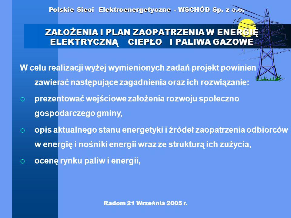 prezentować wejściowe założenia rozwoju społeczno gospodarczego gminy,