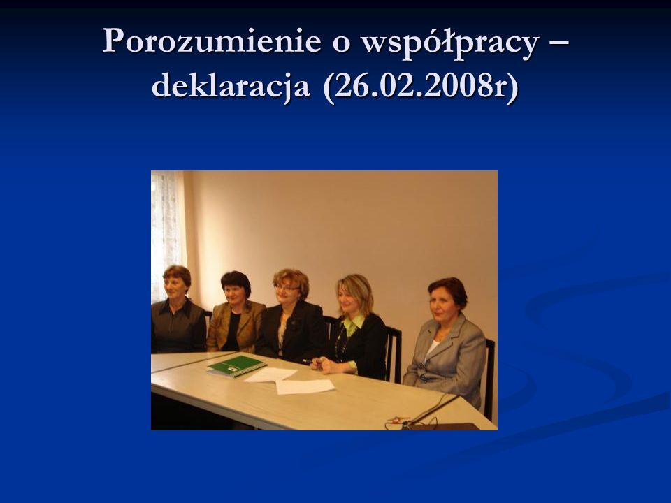 Porozumienie o współpracy – deklaracja (26.02.2008r)
