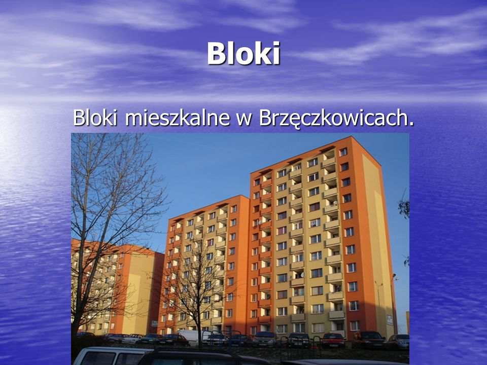Bloki mieszkalne w Brzęczkowicach.