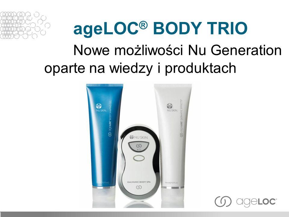 ageLOC® BODY TRIO. Nowe możliwości Nu Generation