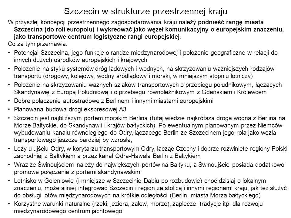 Szczecin w strukturze przestrzennej kraju