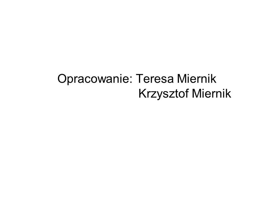 Opracowanie: Teresa Miernik Krzysztof Miernik