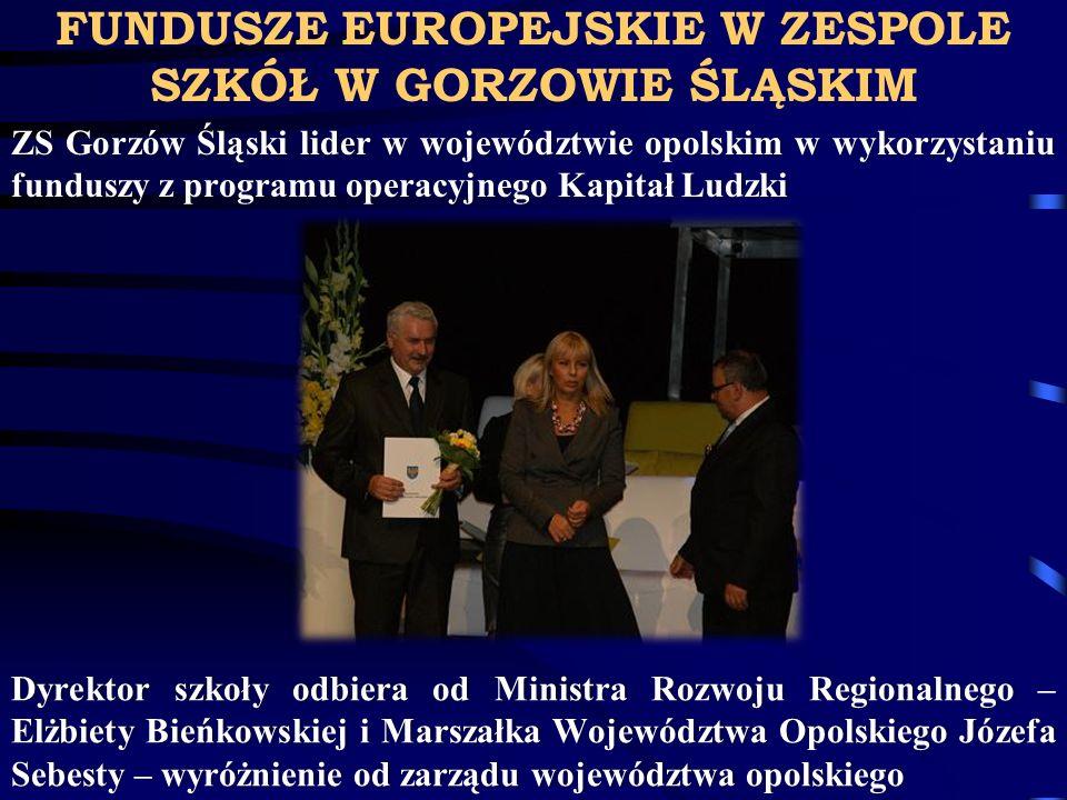 FUNDUSZE EUROPEJSKIE W ZESPOLE SZKÓŁ W GORZOWIE ŚLĄSKIM