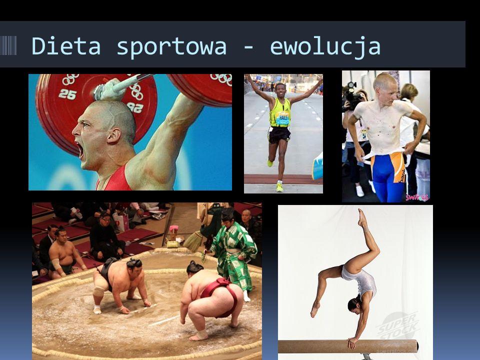 Dieta sportowa - ewolucja