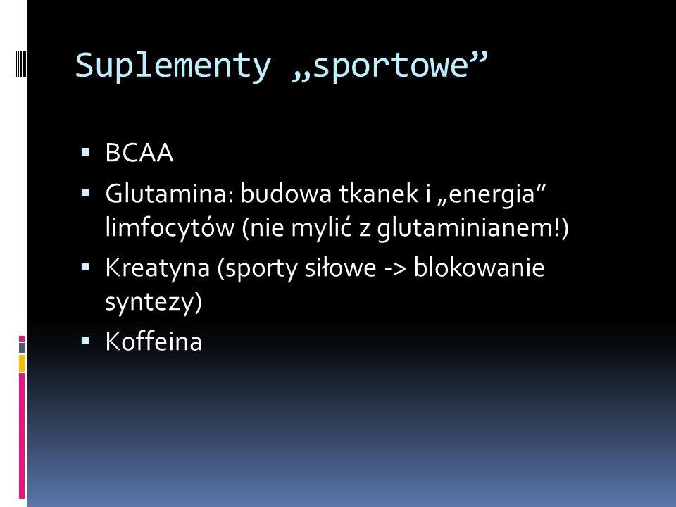 "Suplementy ""sportowe"