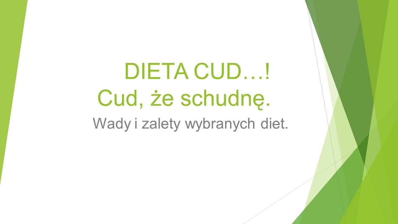 DIETA CUD…! Cud, że schudnę.