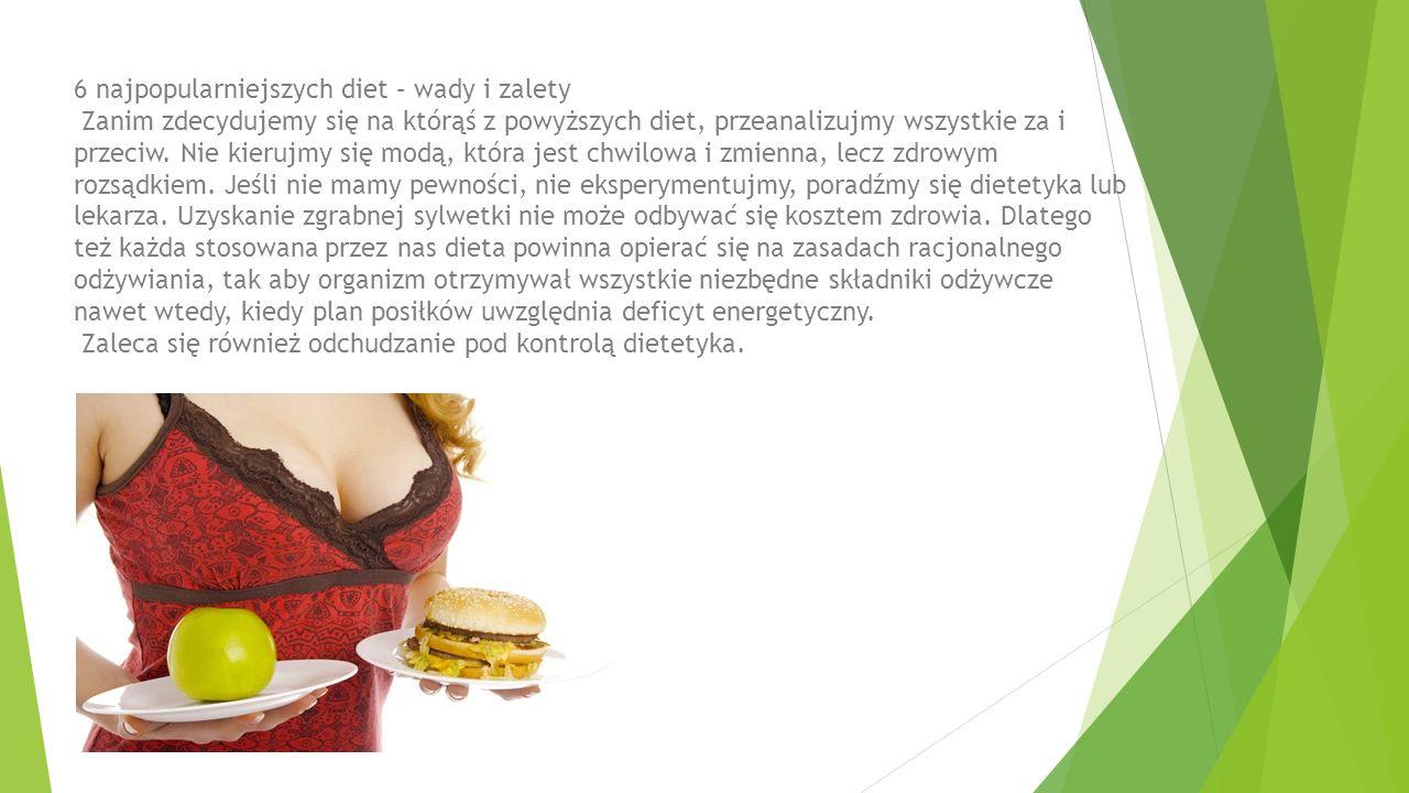 6 najpopularniejszych diet – wady i zalety