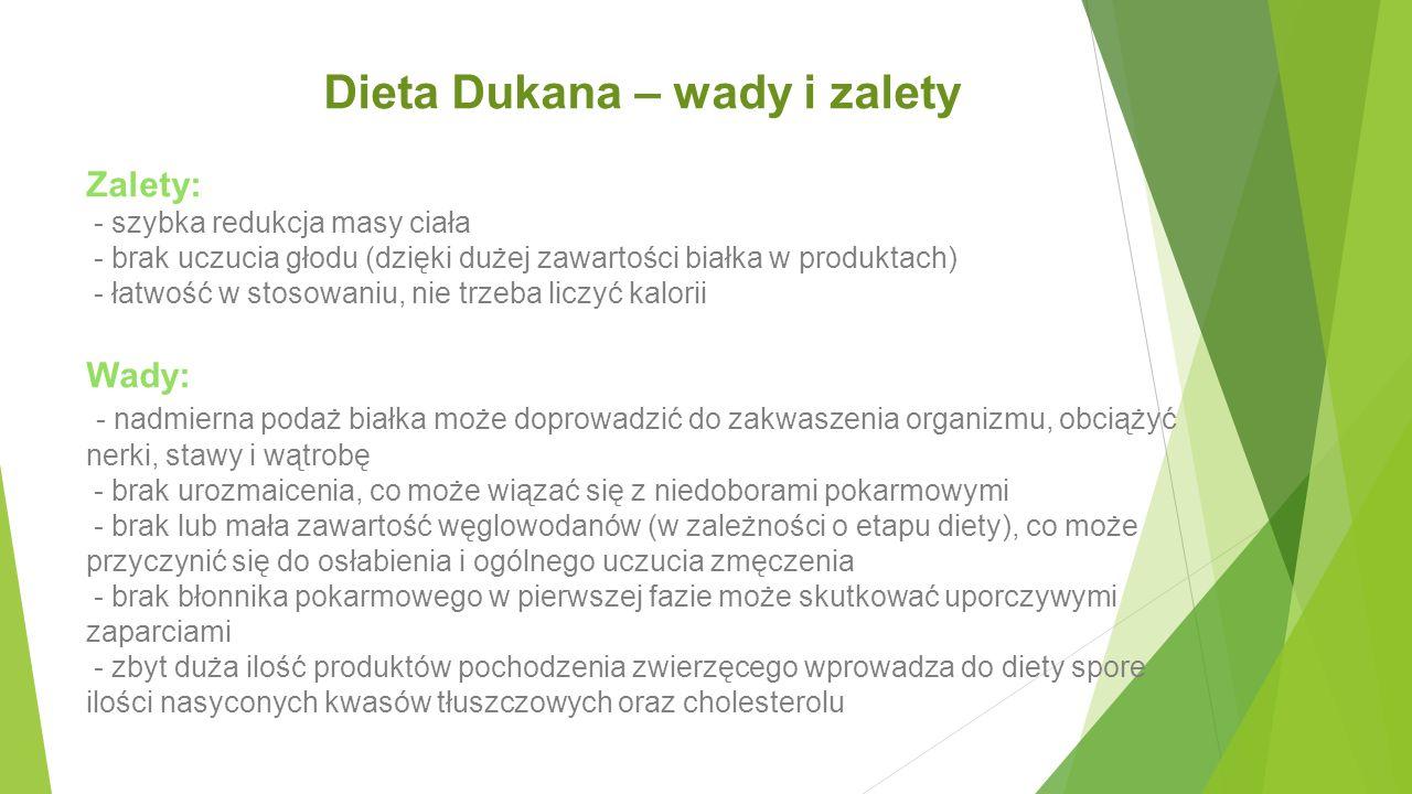 Dieta Dukana – wady i zalety
